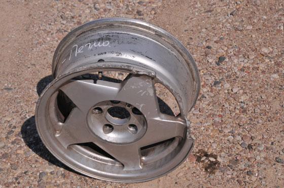 Лопнувший литой диск