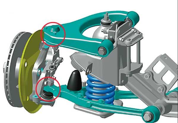 Схема установки шаровой опоры
