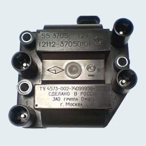 Катушка зажигания установленная на ВАЗ 2114