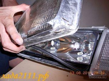 Как снять и разобрать фару ВАЗ 2110
