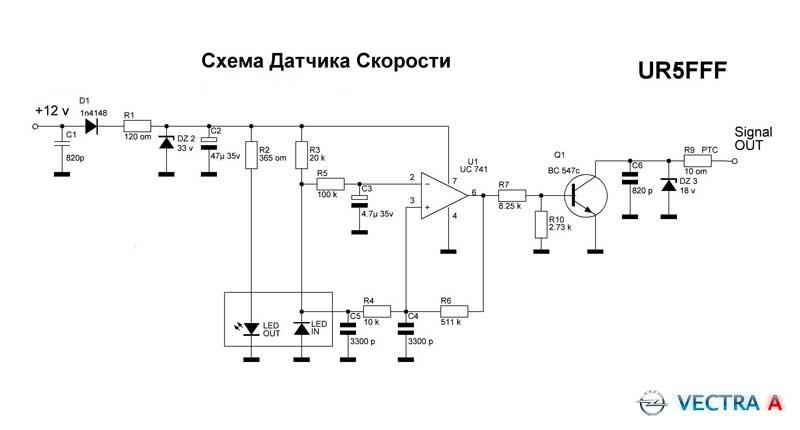 Схема дачика скорости
