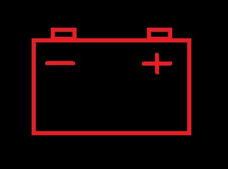 Значок АКБ на приборной панели