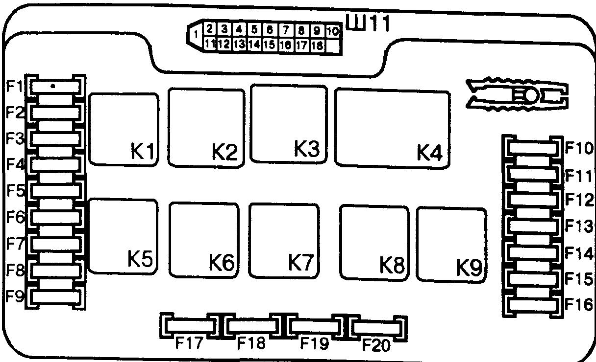 Схема предохранителей ваз 2006