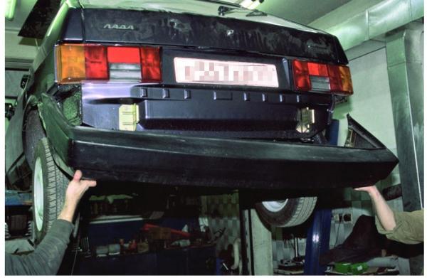 Задний бампер на ВАЗ 2114: замена своими руками, сколько стоит новый, LuxVAZ