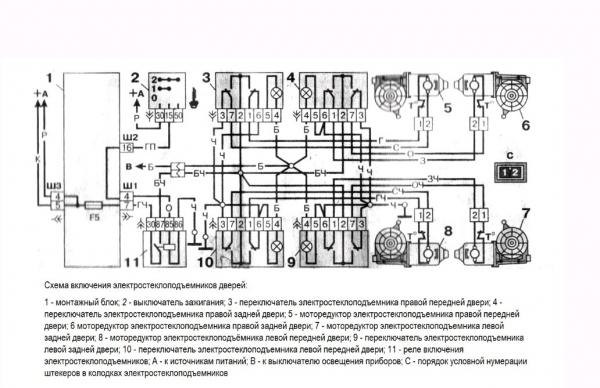 Схема подъемного устройства