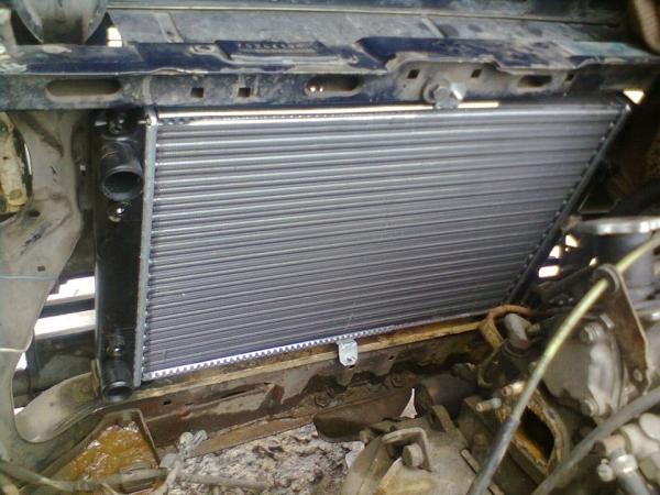 Расположение радиатор